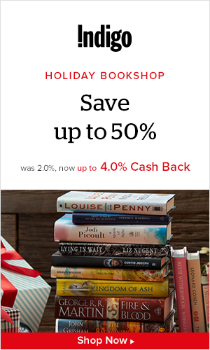 Earn up to 4.0% Cash Back from Ebates.ca with Chapters-Indigo Coupons, Promo Codes