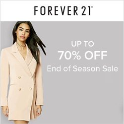 Earn 2.0% Cash Back from Ebates.ca with Forever 21 Canada Coupons, Promo Codes