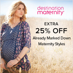Earn 2.5% Cash Back from Ebates.ca with Destination Maternity Coupons, Promo Codes
