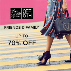 Earn 8.0% Cash Back from Ebates.ca with Saks OFF 5TH Coupons, Promo Codes