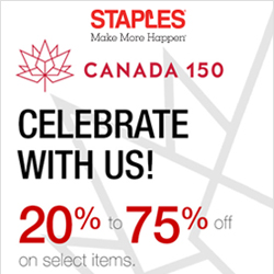 Earn up to 3.0% Cash Back from Ebates.ca with Staples Canada Coupons, Promo Codes