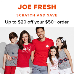 Earn 4.0% Cash Back from Ebates.ca with Joe Fresh Canada Coupons, Promo Codes