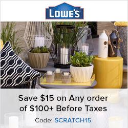 Earn 1.0% Cash Back from Ebates.ca with Lowe's Canada Coupons, Promo Codes