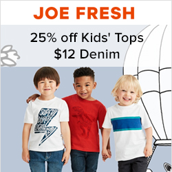Earn 8.0% Cash Back from Ebates.ca with Joe Fresh Coupons, Promo Codes