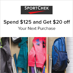 Earn 1.0% Cash Back from Ebates.ca with Sport Chek Coupons, Promo Codes